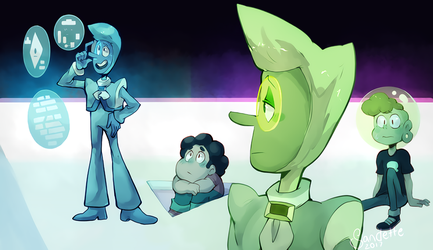 Steven Universe The Trial - Zircons redraw by Sandette