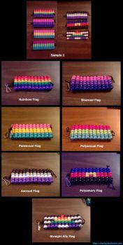 Craft: Pony Bead Pride Flags by CharlaP