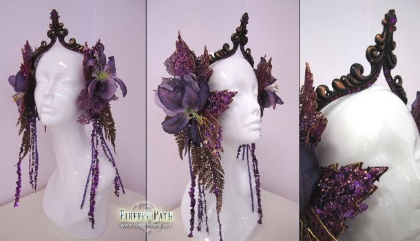 Glittering Amethyst Headdress by Firefly-Path