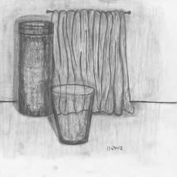 Charcoal still life #1 by robbjosf