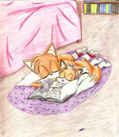 Tails and Becky - Nap by Marluxialover11