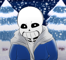 Sans and Snow by SynTheSaizer