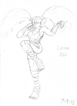 Luciana 2012 sketch by RocMegamanX