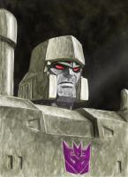 Painted Megatron by wordmongerer