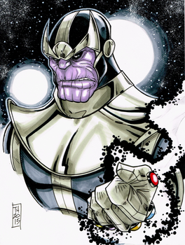 Avenger A Day No 3: Thanos by Hodges-Art
