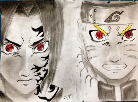 RASENGAN vs SHARINGAN by SiriEss