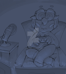 Night time gaming by MirandaMaija