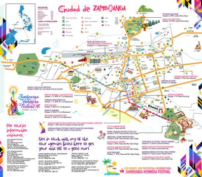 Zamboanga Hermosa Festival Map 2016 by resurrect97