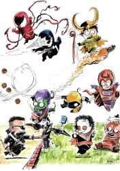 Marvel babies 02 print by ickhwano