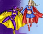 Supergirl and Batgirl by RoyaleMay