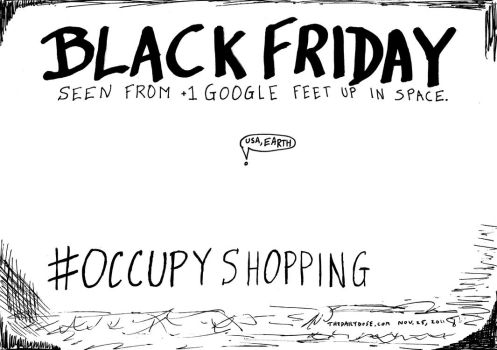 Black Friday Occupy Shopping cartoon by amazingn3ss