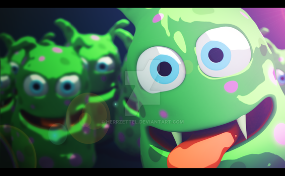 Monster Photobomb - made in Blender by HerrZettel