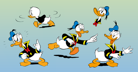Colored Duck doodles by Hidde99