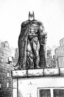 Batman bnw by Mercvtio