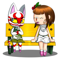 ACNL: Talking with kabuki by Zero20ne