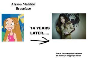 Braceface : Alyson  malitski   14 years later... by montrain101