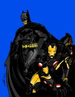 Batman and Iron Man Crossover Art by GumbocRafael