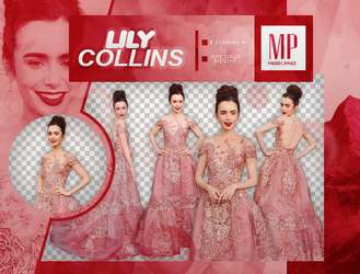 PACK PNG 842| LILY COLLINS by MAGIC-PNGS
