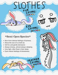 Slothes *Semi-Open Species* by MonsterMakerNeko