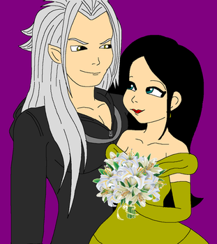 At   Xemnas And Jenny By The Four Dragons-dazet2u by Bluediamondpikachu83