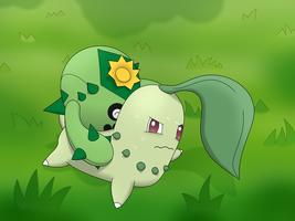Cacnea and Chikorita