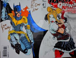 Batgirl Harley final cover by steelcitycustomart