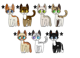 Ten Point Warrior Cat Adoptables (OPEN) by PoisonFate