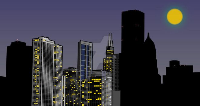 Chicago Skyline WIP by CromeCre8ive