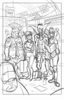 Zombie Dickheads Image Expo print rough by ChrisMoreno