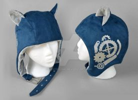 Steampunk Aviator Cap - The Engineer by SewDesuNe