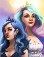 Celestia and Luna by Majoh