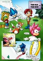 sonic the comic page 1 colored by ThefastestBluralive