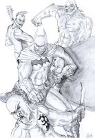 Arkham fight by solid-snake92