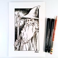 Inktober 11 - Gandalf the Grey by D-MAC