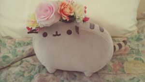 Flower Pusheen by Flutterpusheen