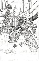 Starscream VS Ultra Magnus by Blitz-Wing