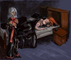 'Shhhh....Don't Wake 'Daddy'' by pitbulllady