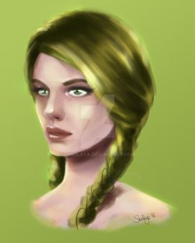 Green Elv by Sherlaya