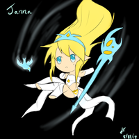 League of Legends: Janna the Storm's fury by TheMuteMagician