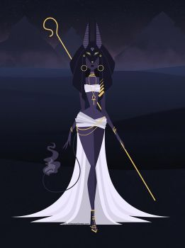 Anubis by littlepaperforest