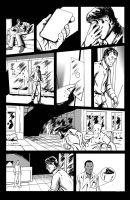 The End Issue 2 - 'Ladder' Page 2 Inks by thescarletspider