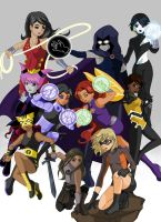 Fight Like A Girl: Teen Titans by Somewei