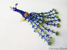 Beaded peacock by EstonianBeads