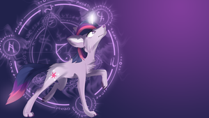 Twilight sparkle wolf wallpaper by AvareQ
