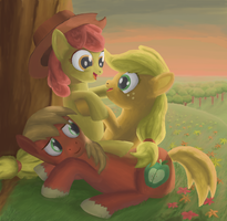 The Apple Siblings by MoreVespenegas