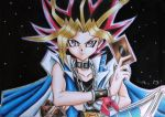 Speed drawing of Yami Yugi from Yugioh by deehkunXD