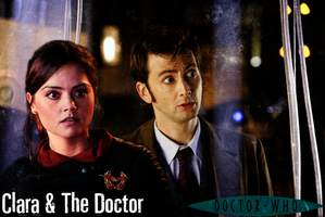 Clara Oswald and The 10th Doctor by feel-inspired