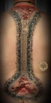 Zipper Backp tattoo fin by 2Face-Tattoo