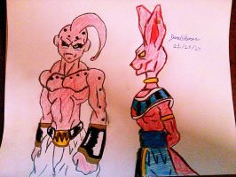 Kid Buu and Lord Beerus(BillS)..-SkooB 11/18/14 by SkoobyForever