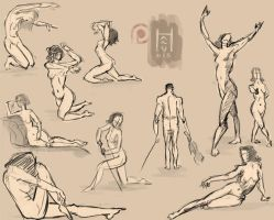 5 minute POSES by HARuNIS